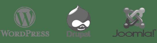 solutions de création de site web : Wordpress, Drupal, Magento